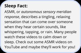 image of sleep fact on asmr